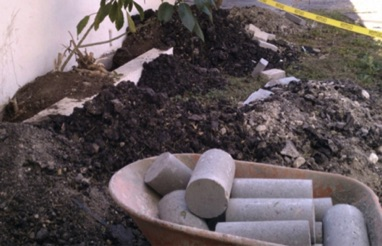 ...While using the concrete cylinder house leveling method causes severe disturbance to landscaping.